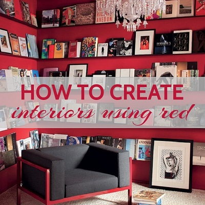 How to create interiors using red